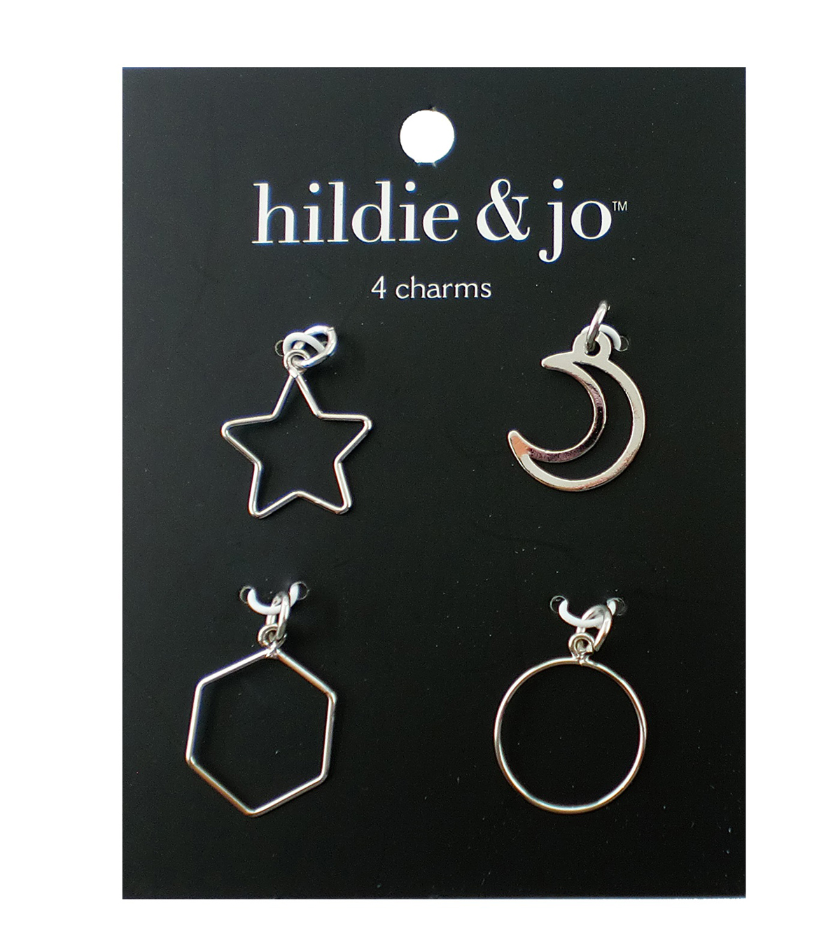 hildie & jo 4 pk Charms-Silver