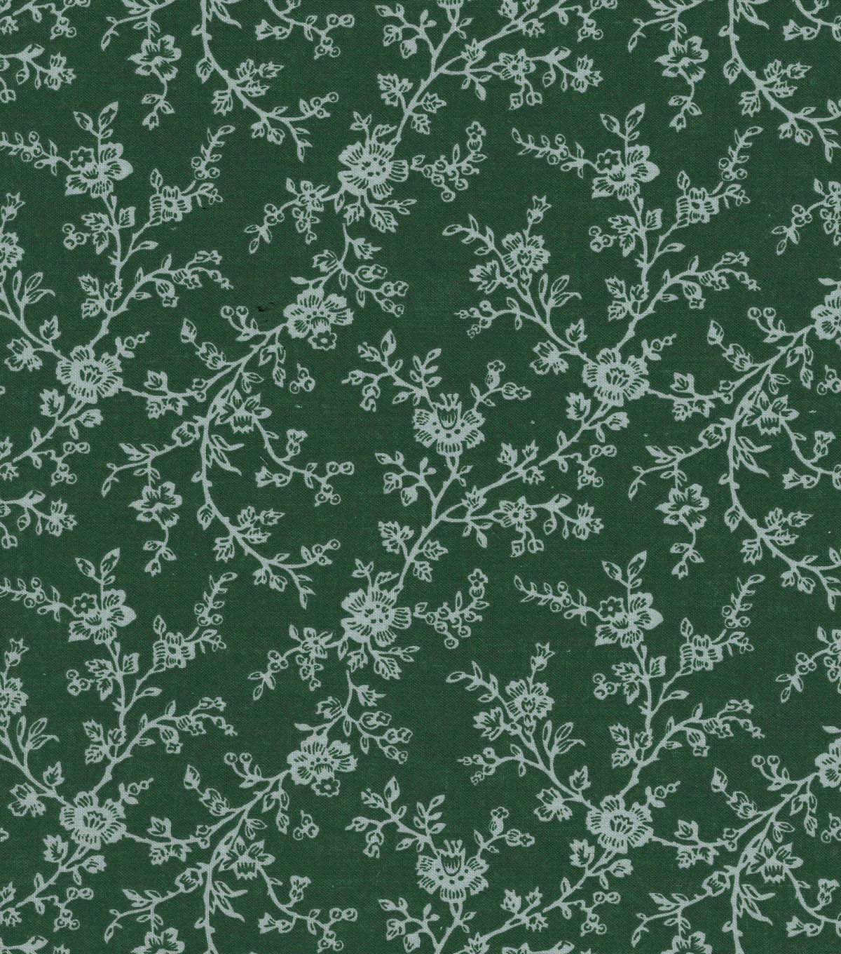 Quilter\u0027s Showcase Cotton Fabric 44\u0022-Green Gray Floral Vines