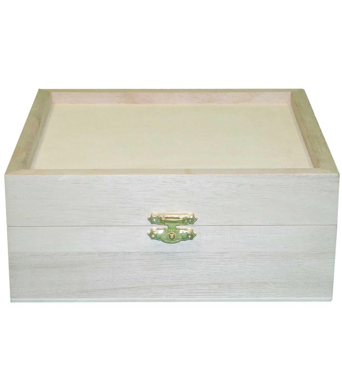 Large Wood Keepsake Box