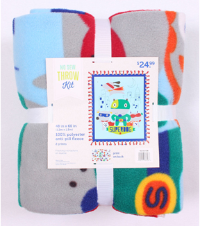 No Sew Fleece Throw 48\u0027\u0027x60\u0027\u0027-Superdog