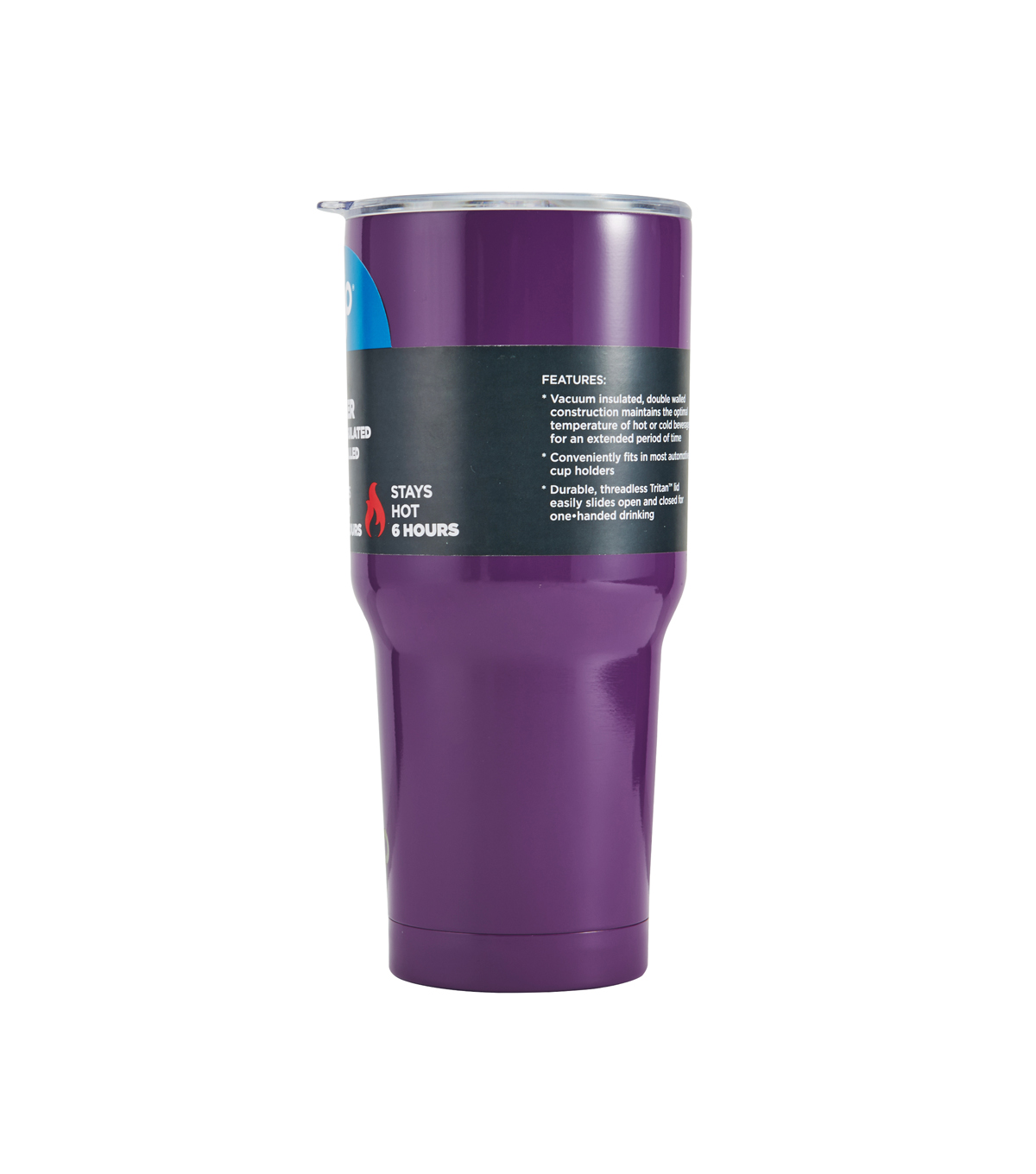 BYO 30 oz. Double-walled Stainless Steel Tumbler with Tritan Lid-Purple