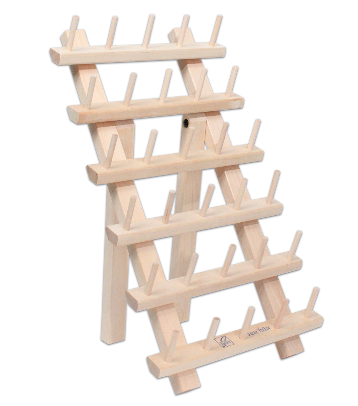 June Tailor 30 Spool Thread Wood Rack with Legs