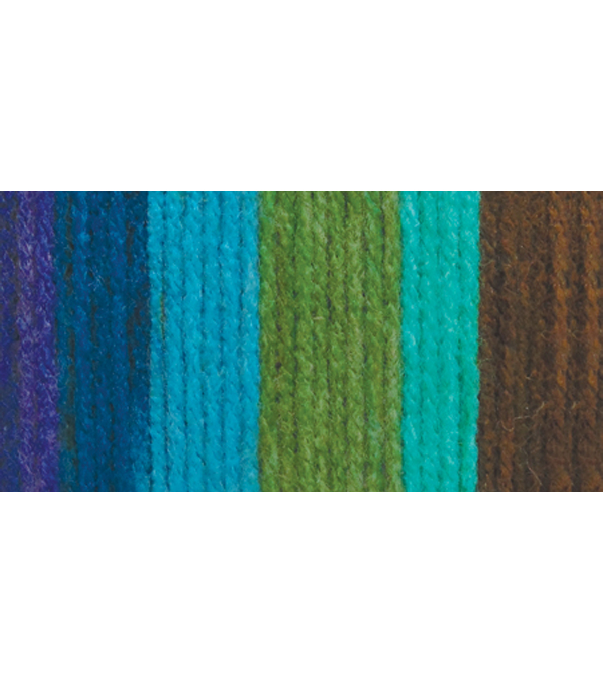 Bernat Super Value Stripes Yarn, Jungle Green