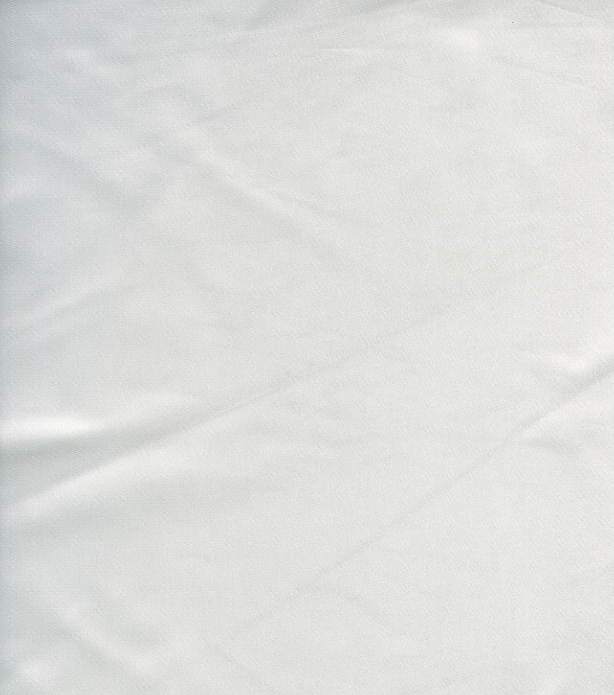 Casa Collection Shiny Satin Fabric, White