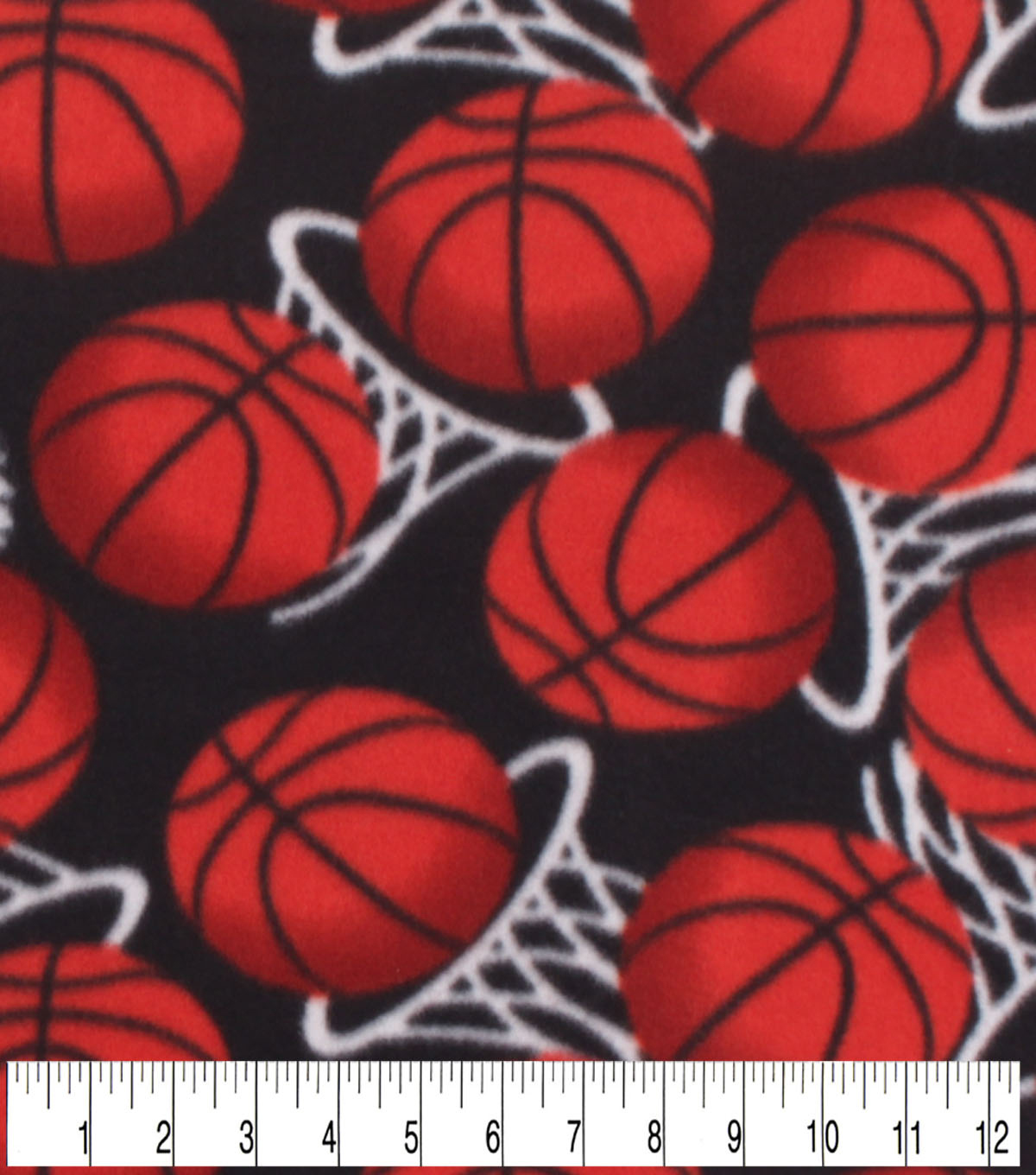 Blizzard Fleece Fabric -Basketball In The Hoop