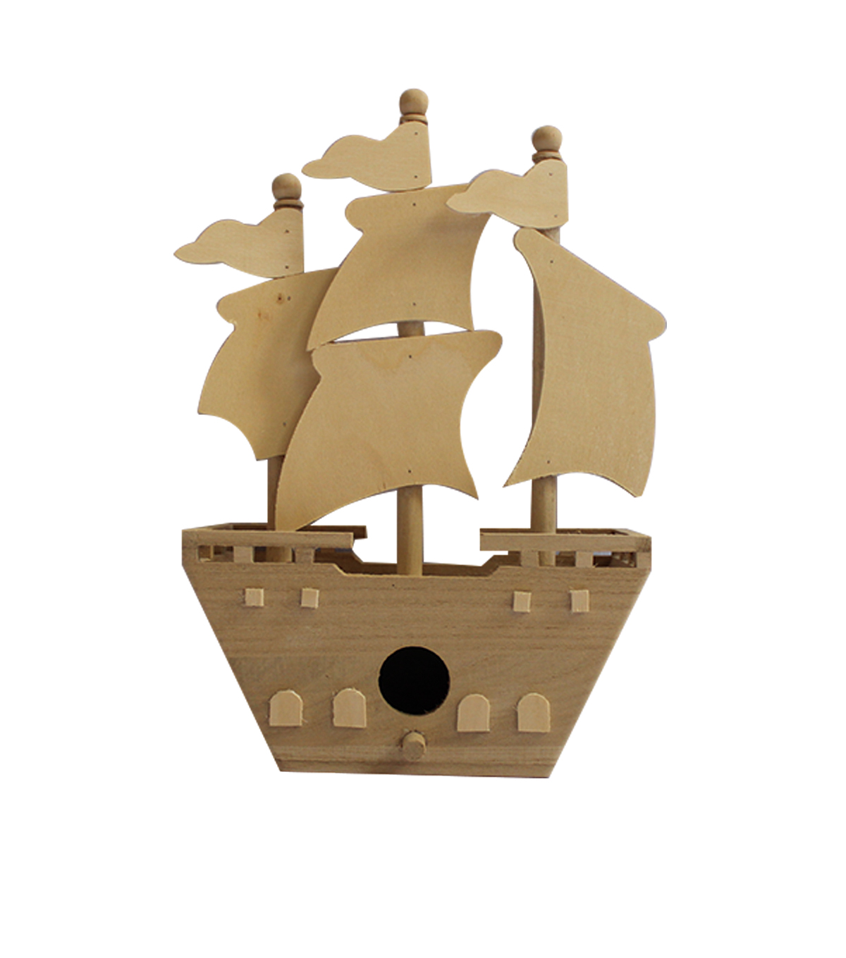 Large Pirate Ship Birdhouse