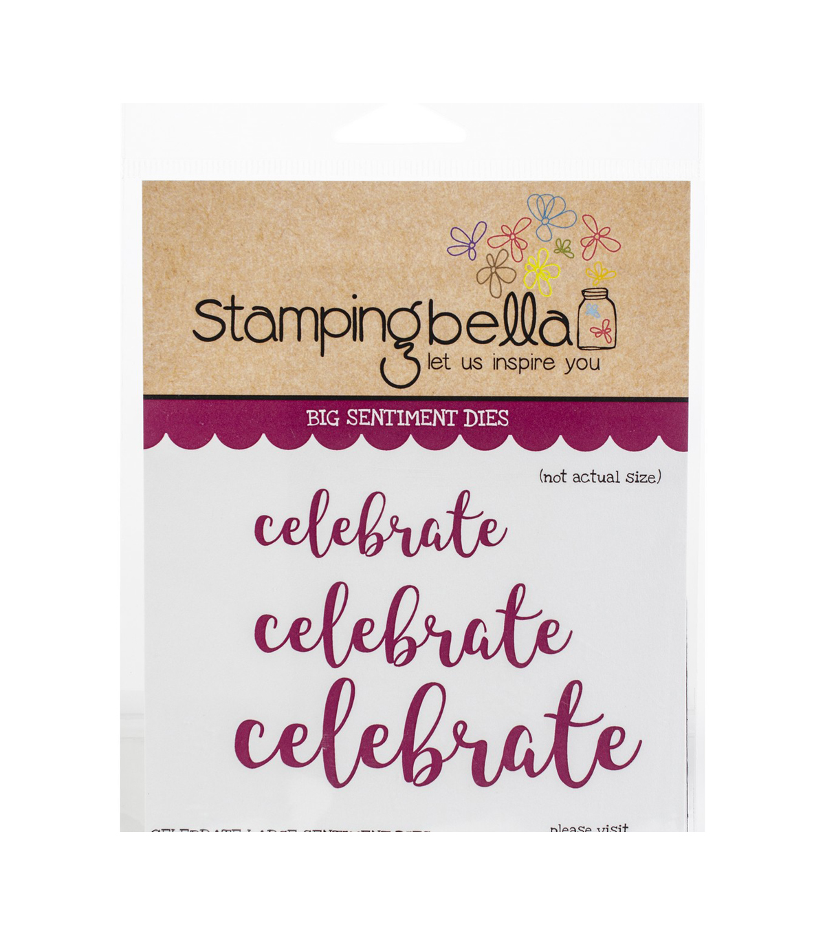 Stamping Bella 3 pk Cut it Out Sentiment Dies-Celebrate