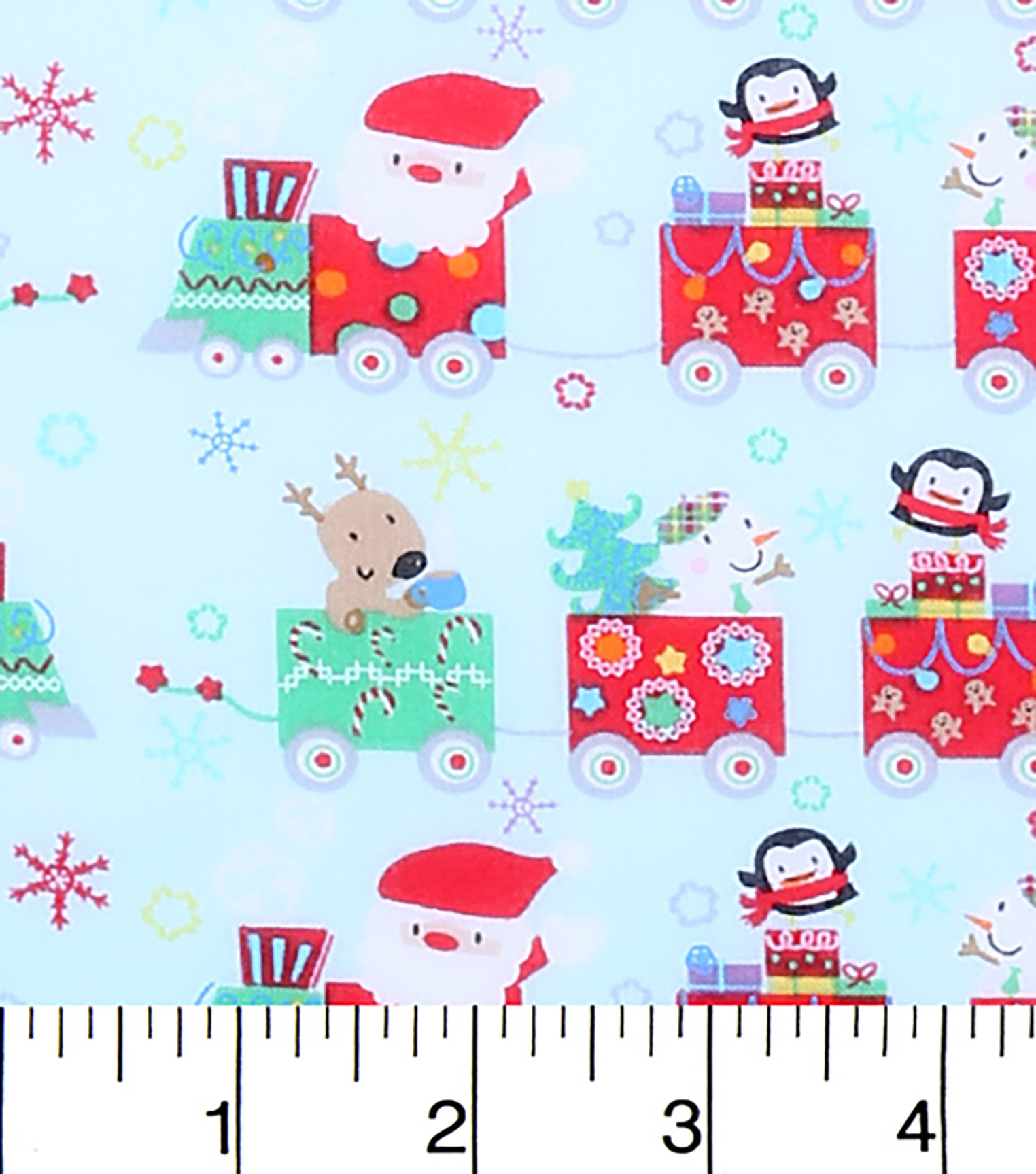 Keepsake Calico Holiday Cotton Fabric 43\u0022-Santa and Pals