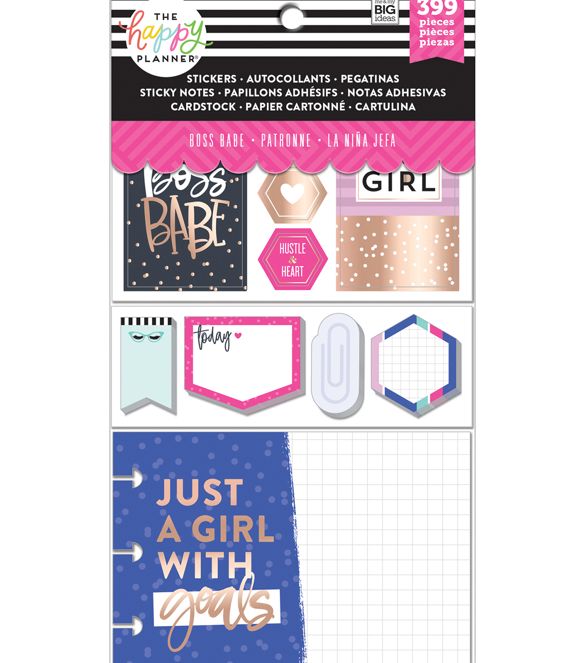 Me & My Big Ideas Coordinated Happy Planner Accessory Pack-Boss Babe