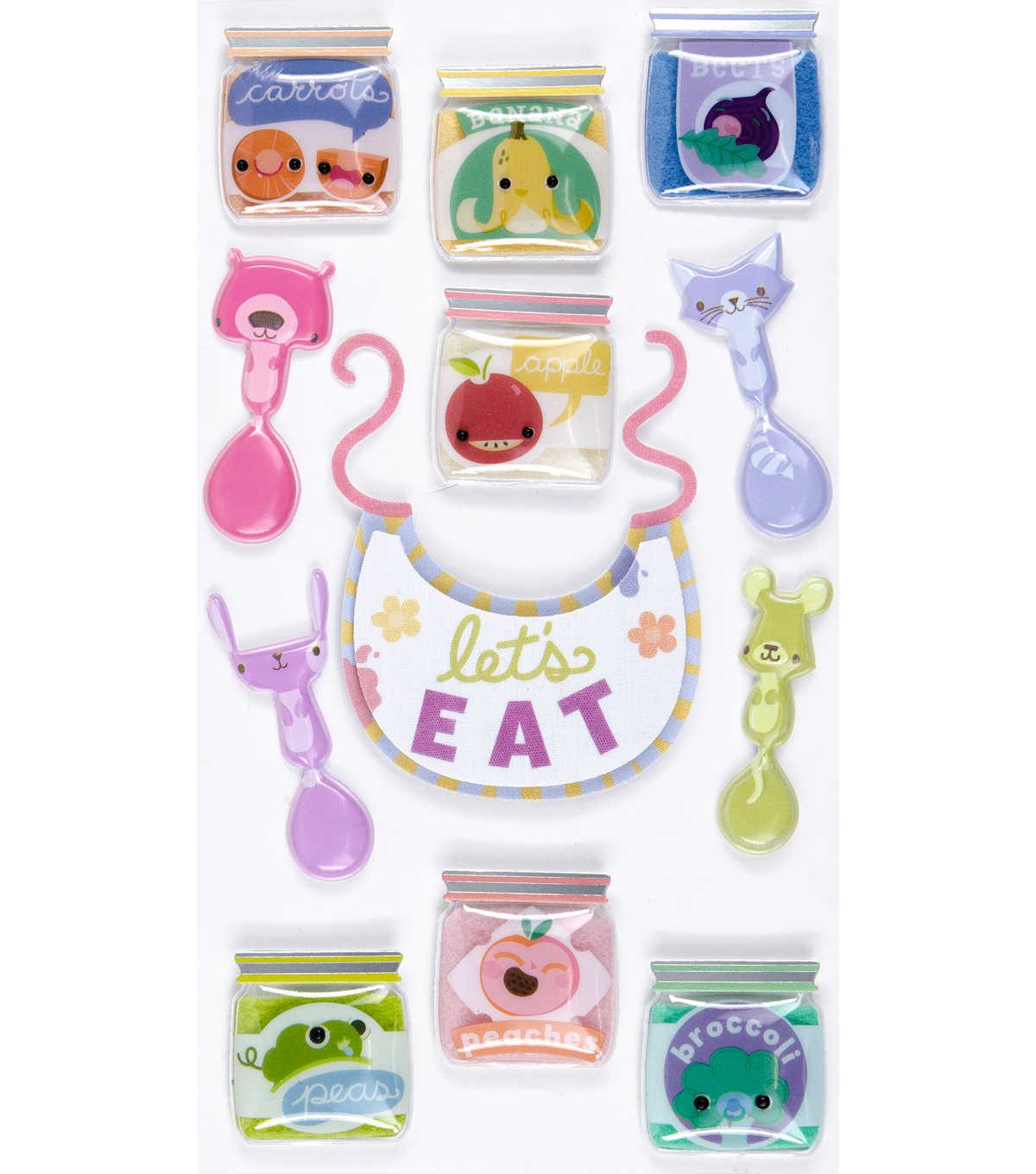Jolee's Boutique Stickers-Baby Food Jars