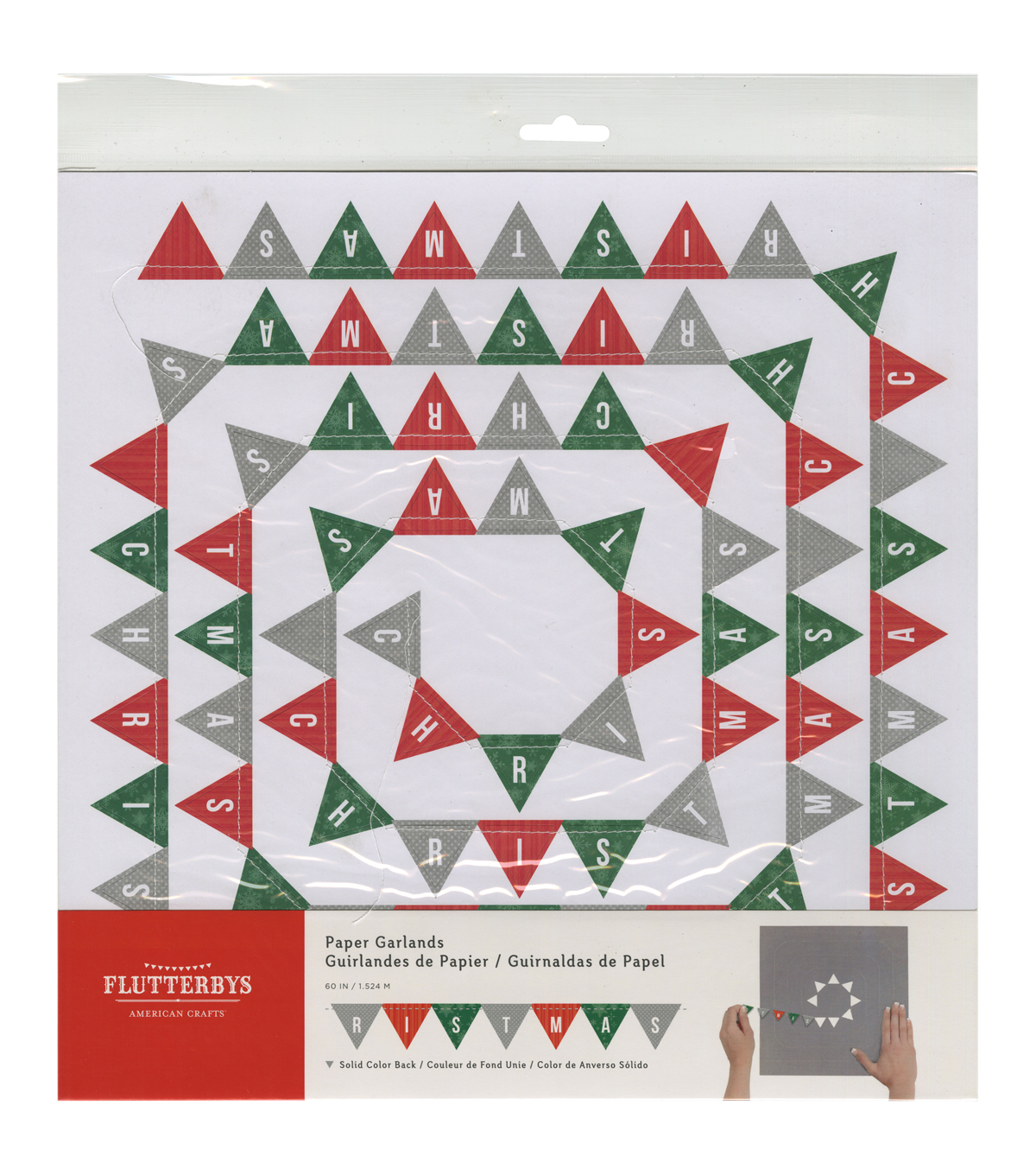 American Crafts Christmas Banner Flutterbys Paper Garland