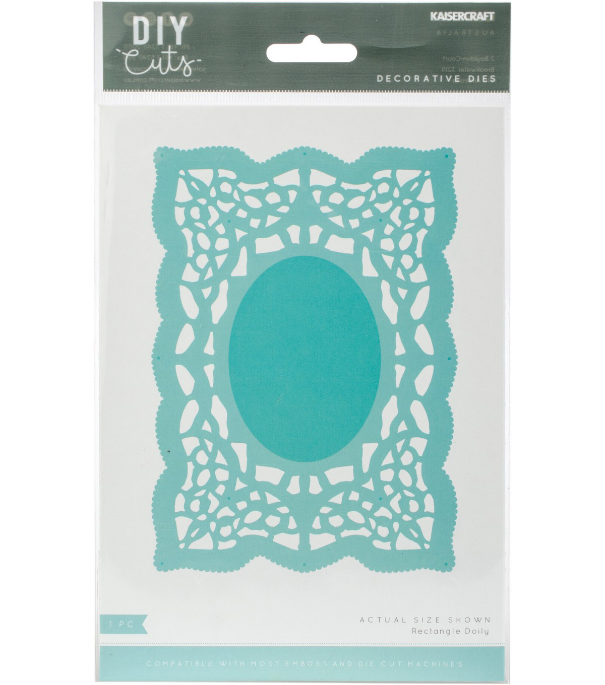 Kaisercraft DIY Cuts 4\u0027\u0027x5.75\u0027\u0027 Decorative Die-Rectangle Doily
