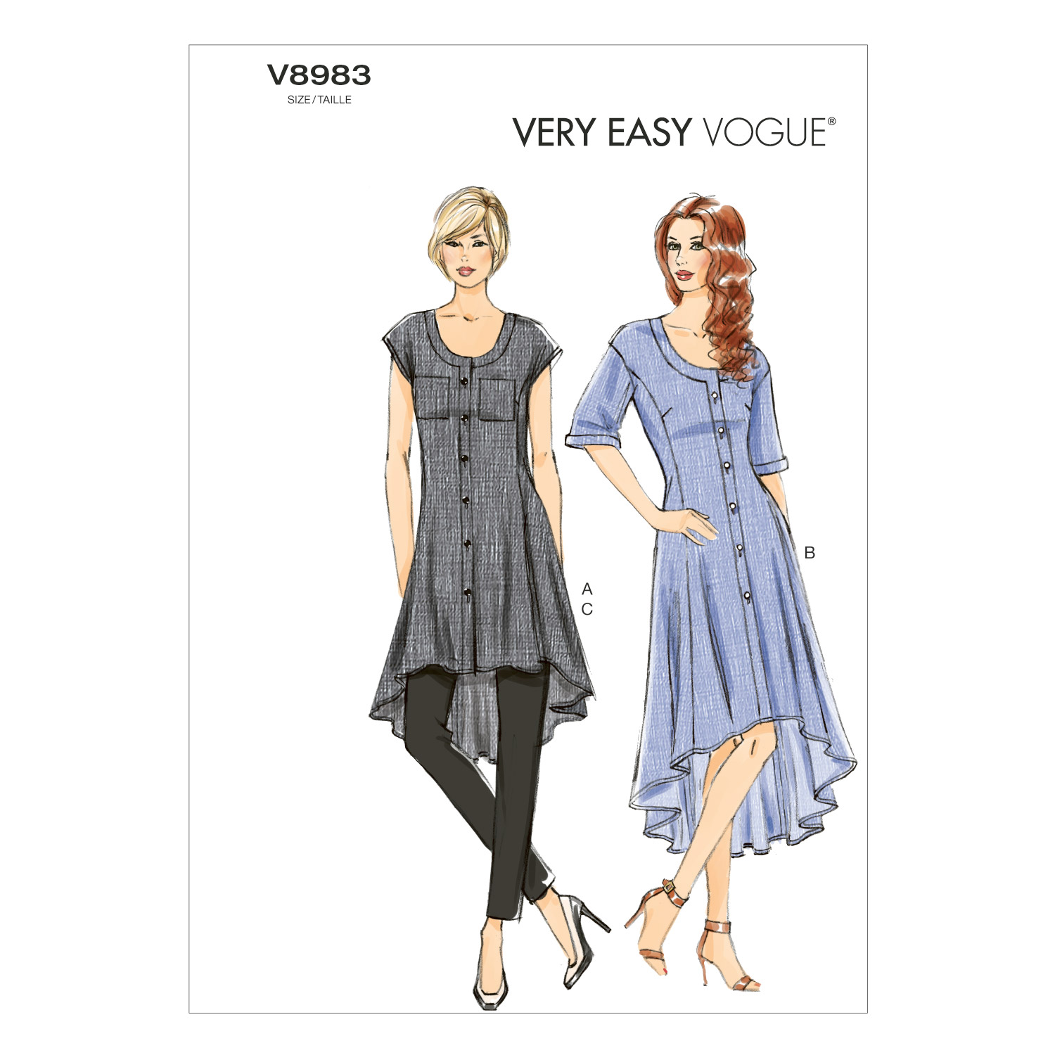 Vogue Patterns Misses Casual-V8983