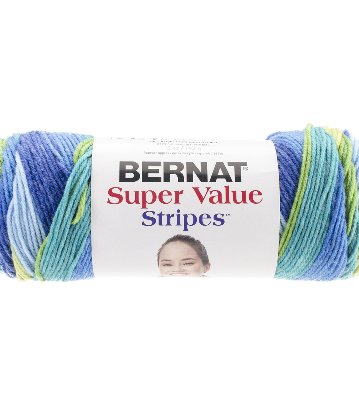 Bernat Super Value Stripes Yarn, Meadow