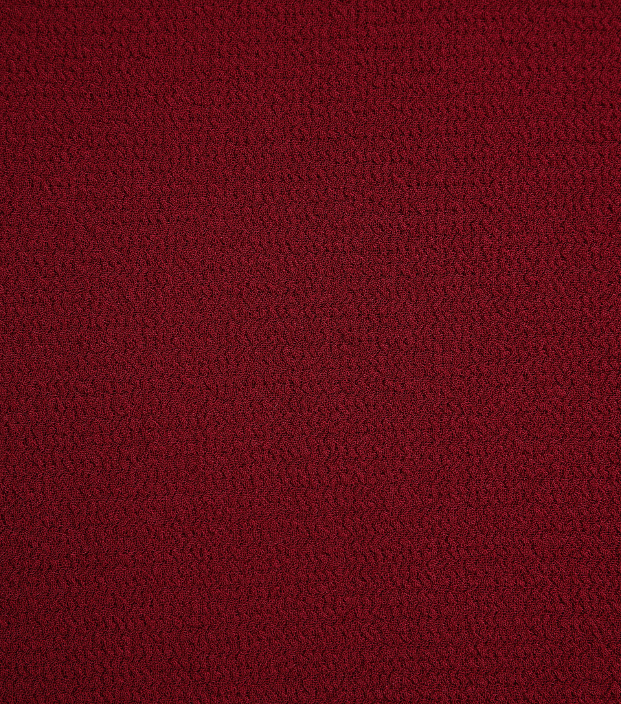 Silky Solid Crepe Knit Fabric-Solid Textured, Cabernet