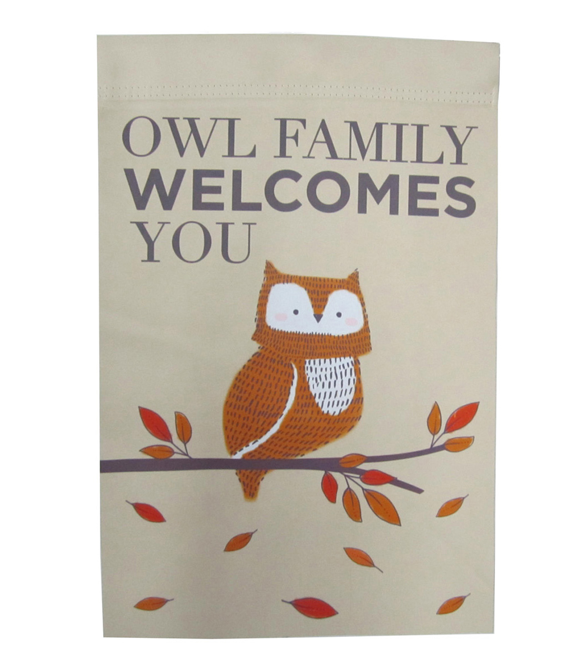 Simply Autumn 12\u0027\u0027x18\u0027\u0027 Flag-Owl Family Welcomes You