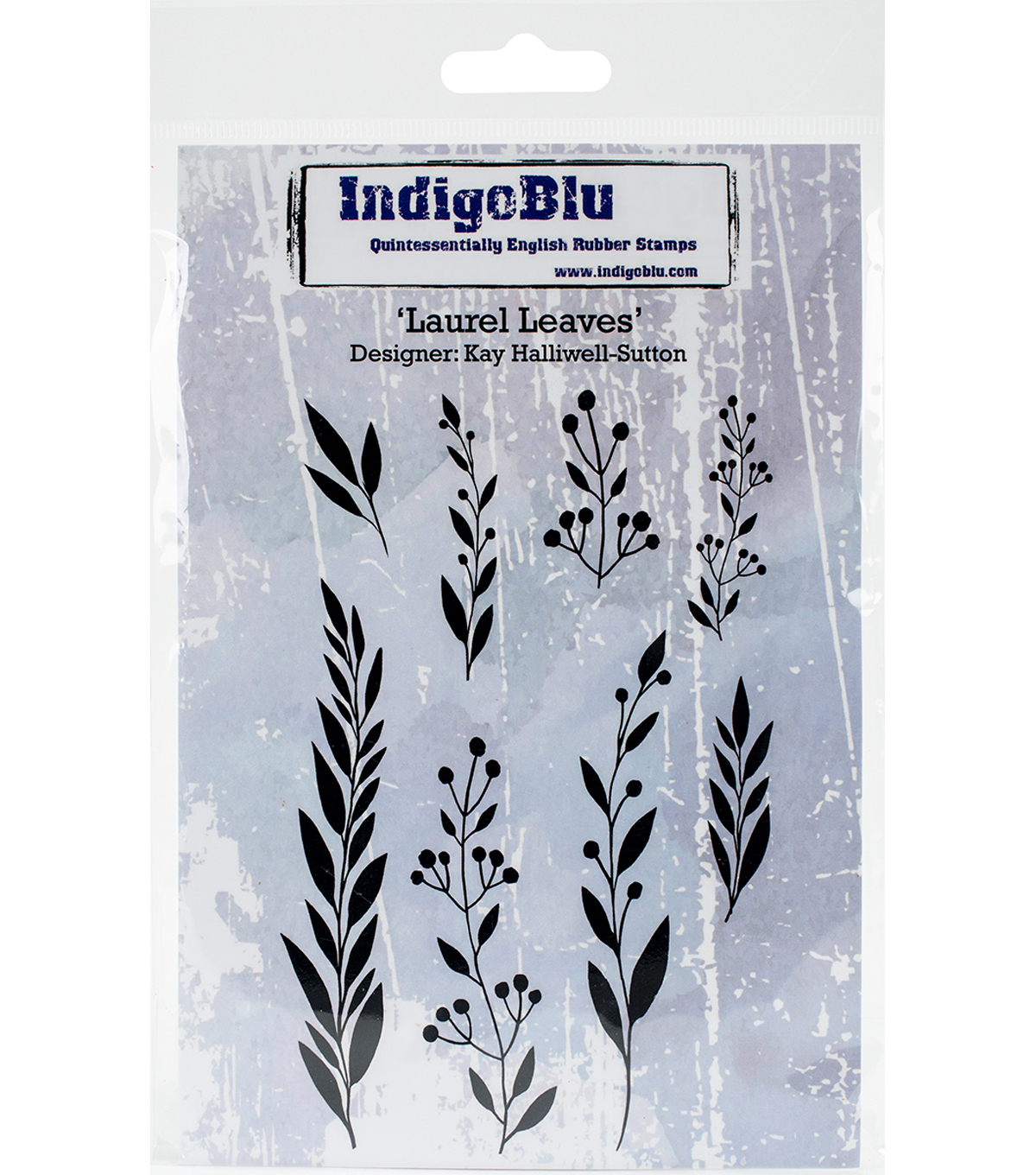 Indigoblu Cling Stmp-Laurel Leaves