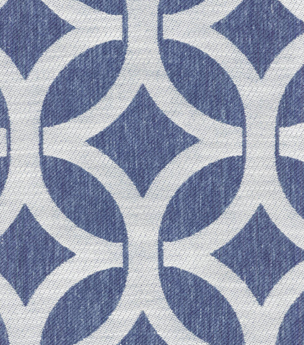 Waverly Multi-Purpose Decor Fabric 55\u0022-Ludlow Lattice/Indigo