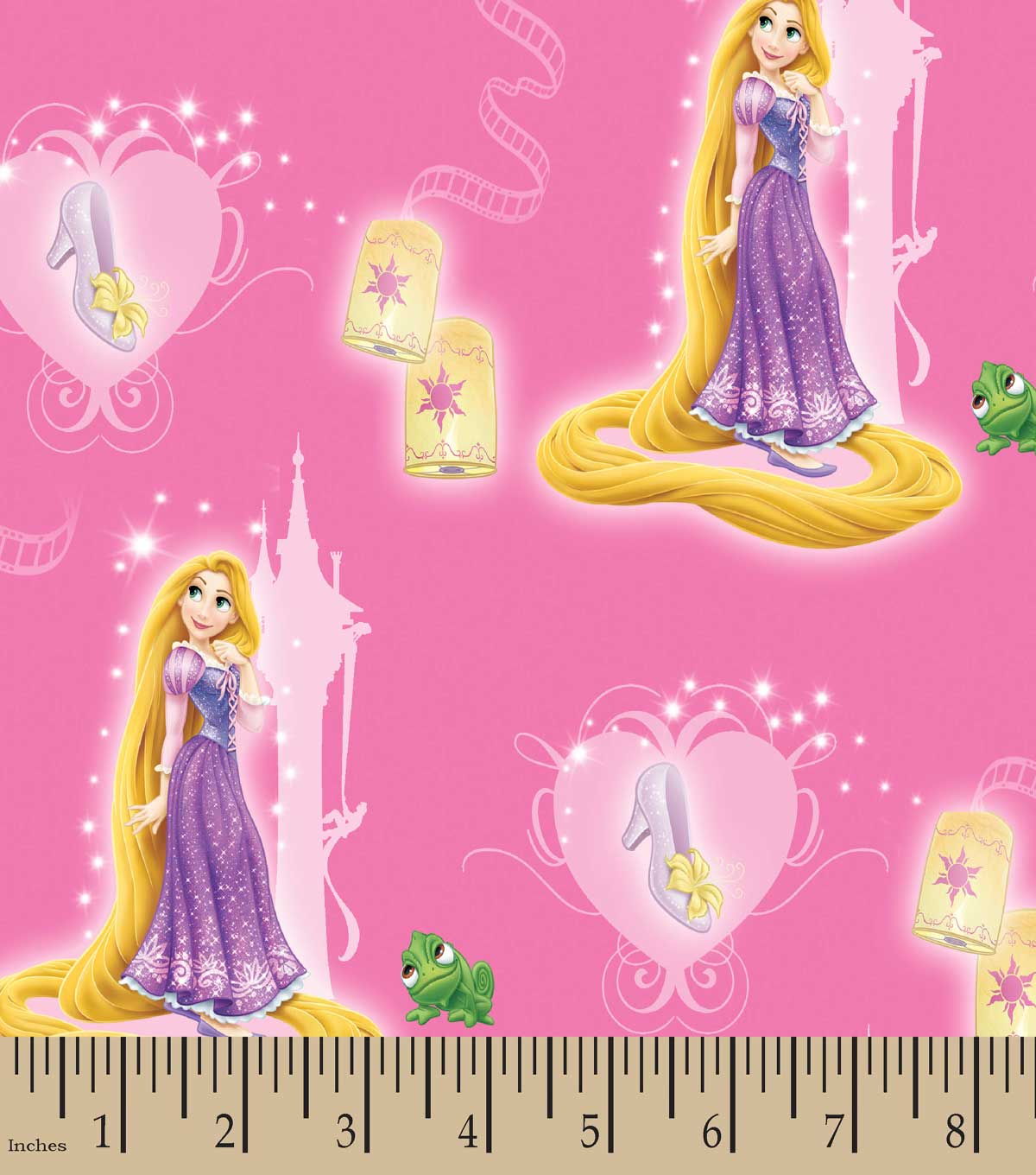 Disney  Princess Print Fabric- Rapunzel And Slipper