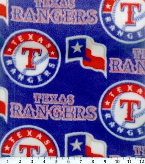 more photos 684de 37852 Texas Rangers Fleece Fabric -Logo