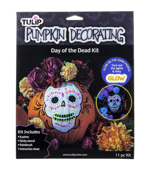 Tulip Pumpkin Decorating Kit Day Of The Dead Skull