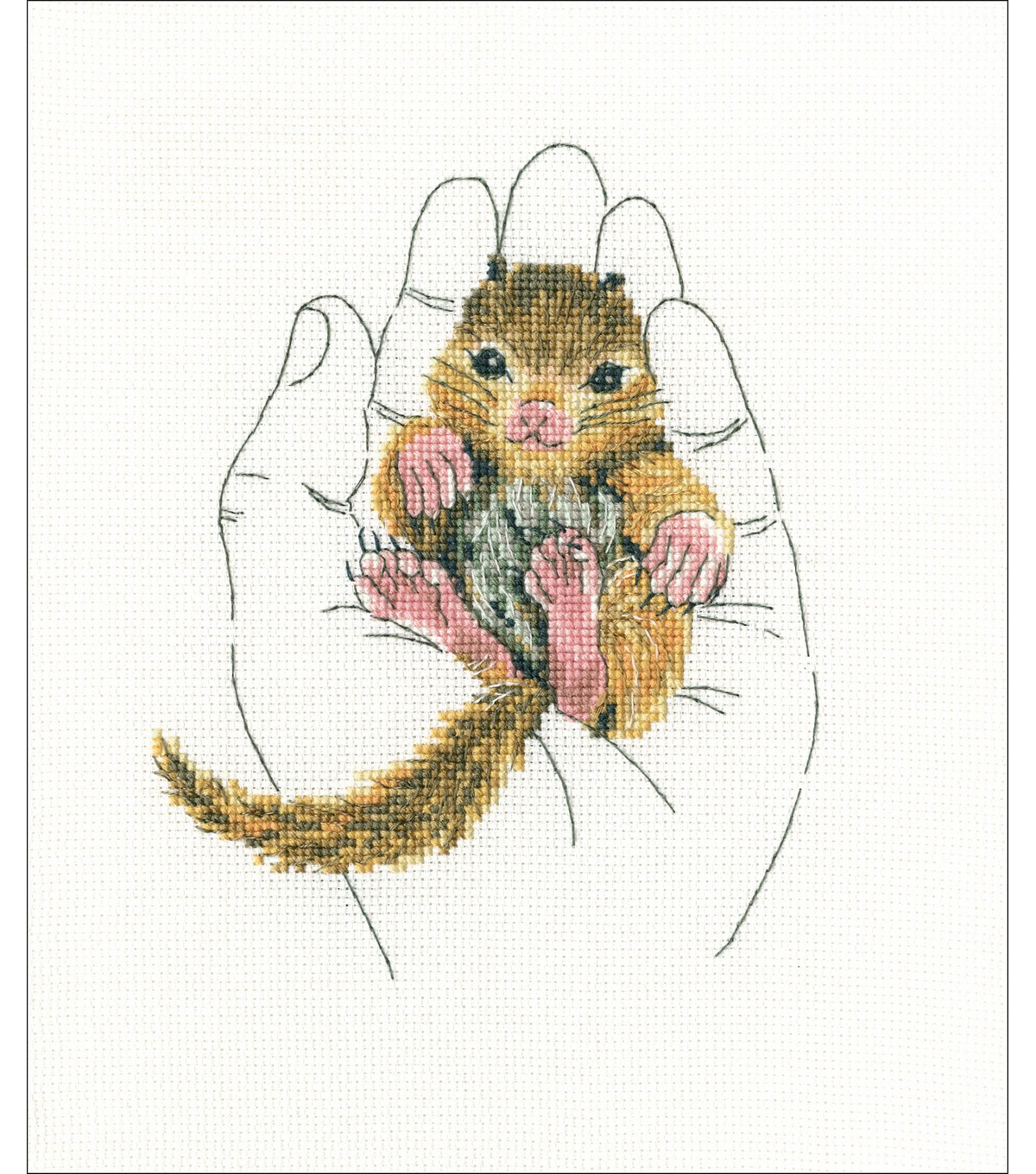 RTO 4.92\u0027\u0027x6.29\u0027\u0027 Counted Cross Stitch Kit -Warmth In Palms II