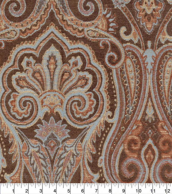 Waverly Upholstery Fabric 54\u0027\u0027-Masala Clubroom Paisley