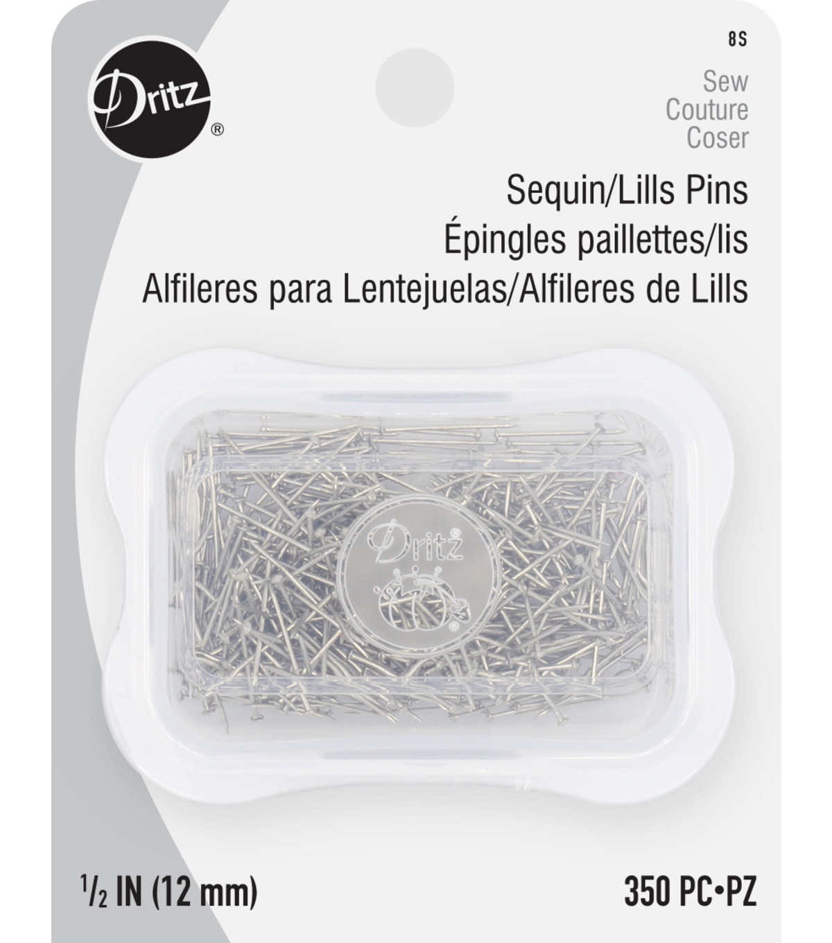Dritz Steel Sequin Pins-Size 8 350/Pkg
