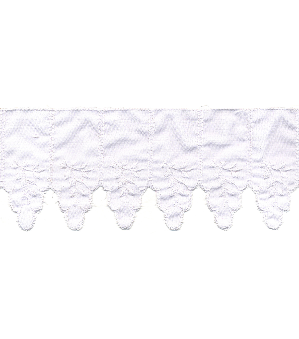 Simplicity Trims-2 3/4\u0022 Point Leaf Band White