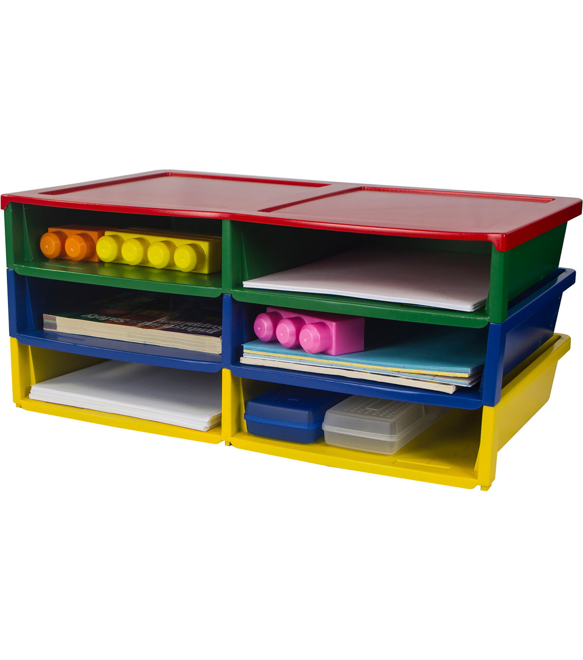 Storex Quick Stack Literature Organizer-Multicolored
