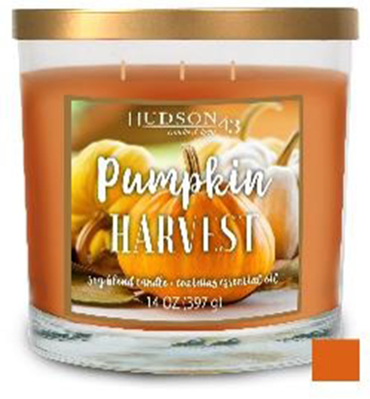Hudson 43 Fall 14 oz. 3-wick Pumpkin Harvest Candle