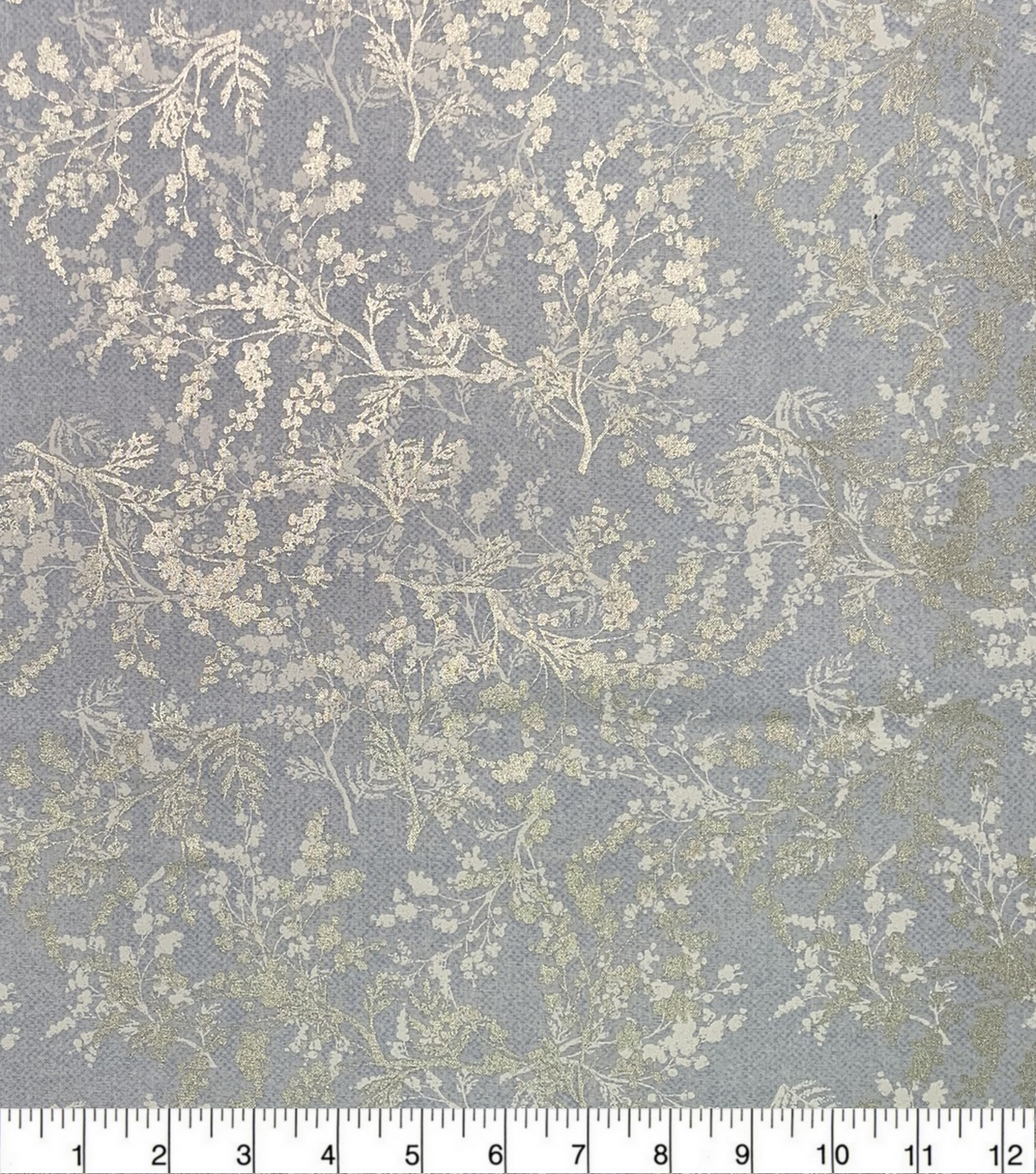 Keepsake Calico Cotton Fabric-Metallic Branches Light Blue