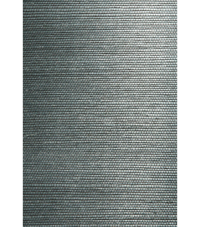 Kumiko Green Grasscloth Wallpaper