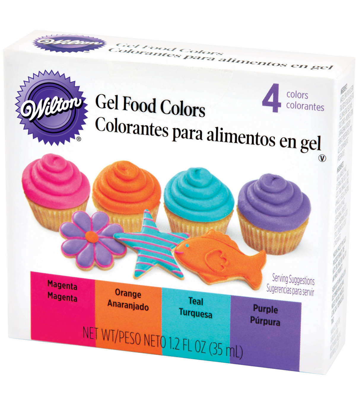 Wilton Gel Food Coloring Set 4/Pkg-Neon