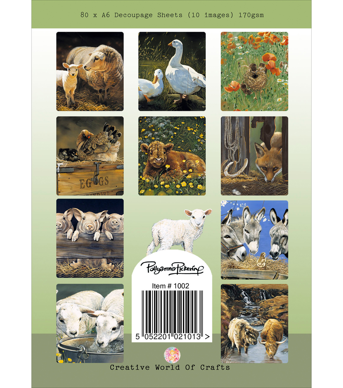 Pollyanna Pickering 80 sheet A6 Decoupage Pad-Farmyard Days