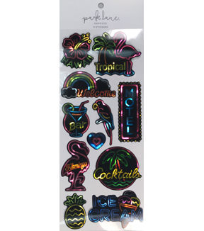 Neon Tropical Stickers