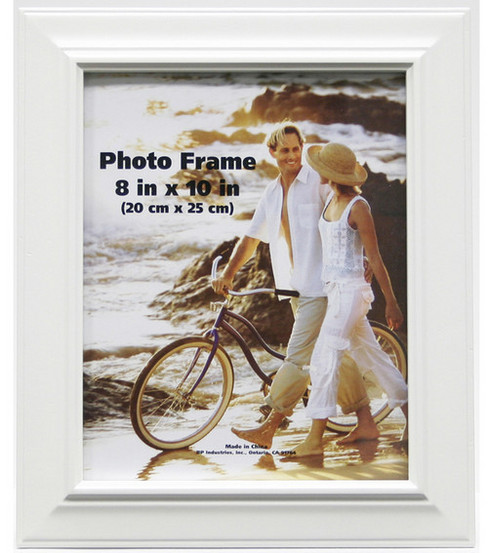 Plastic Bevel Portrait Wall Photo Frame 8\u0027\u0027x10\u0027\u0027-White