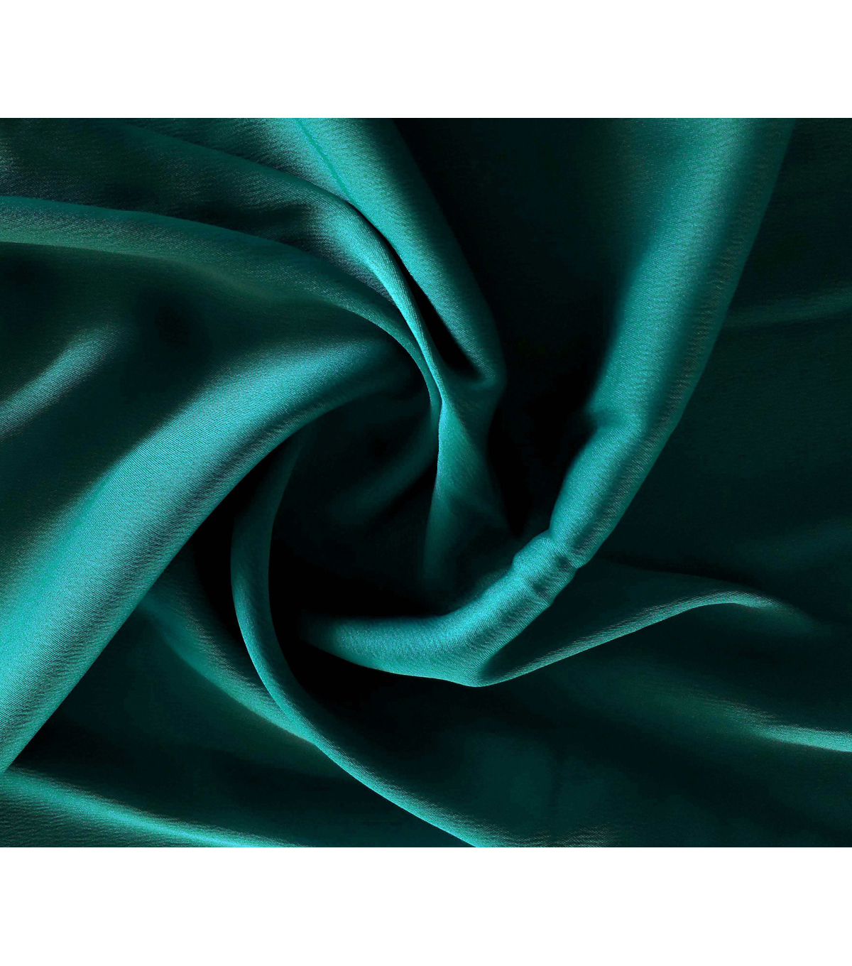 Silky Stretch Satin Fabric-Textured Solids, Dark Teal