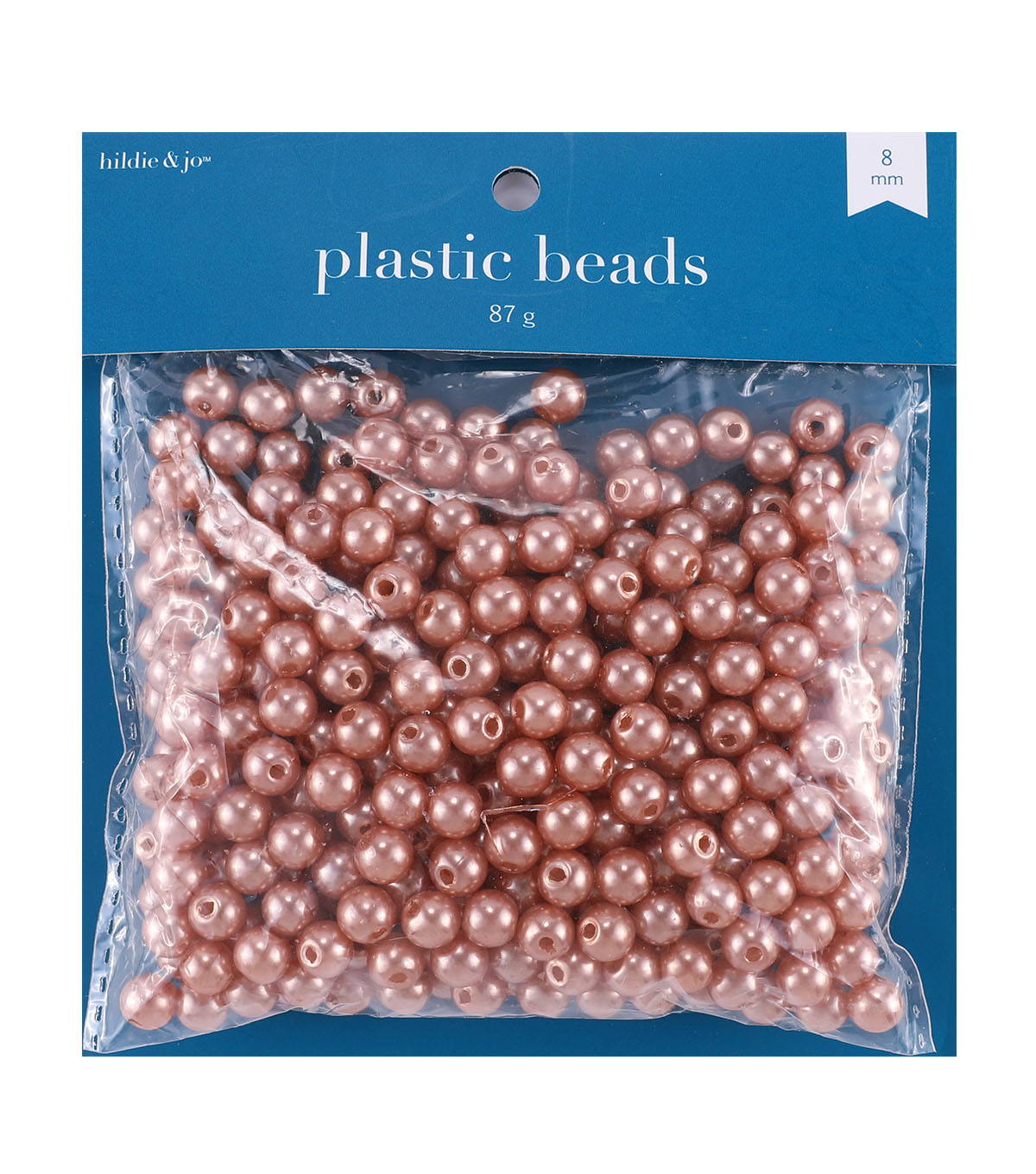 hildie & jo 8 mm Round Plastic Pearl Beads-Dove Gray