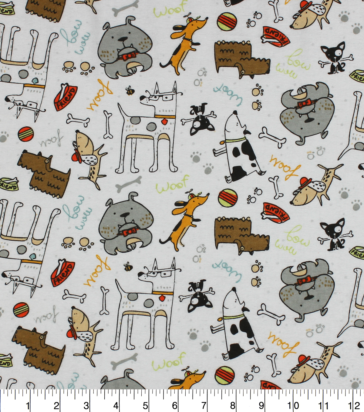 Snuggle Flannel Fabric -Dubberly Dogs