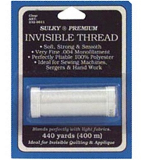 Sulky Premium Invisible Thread 440 Yards Clear Joann