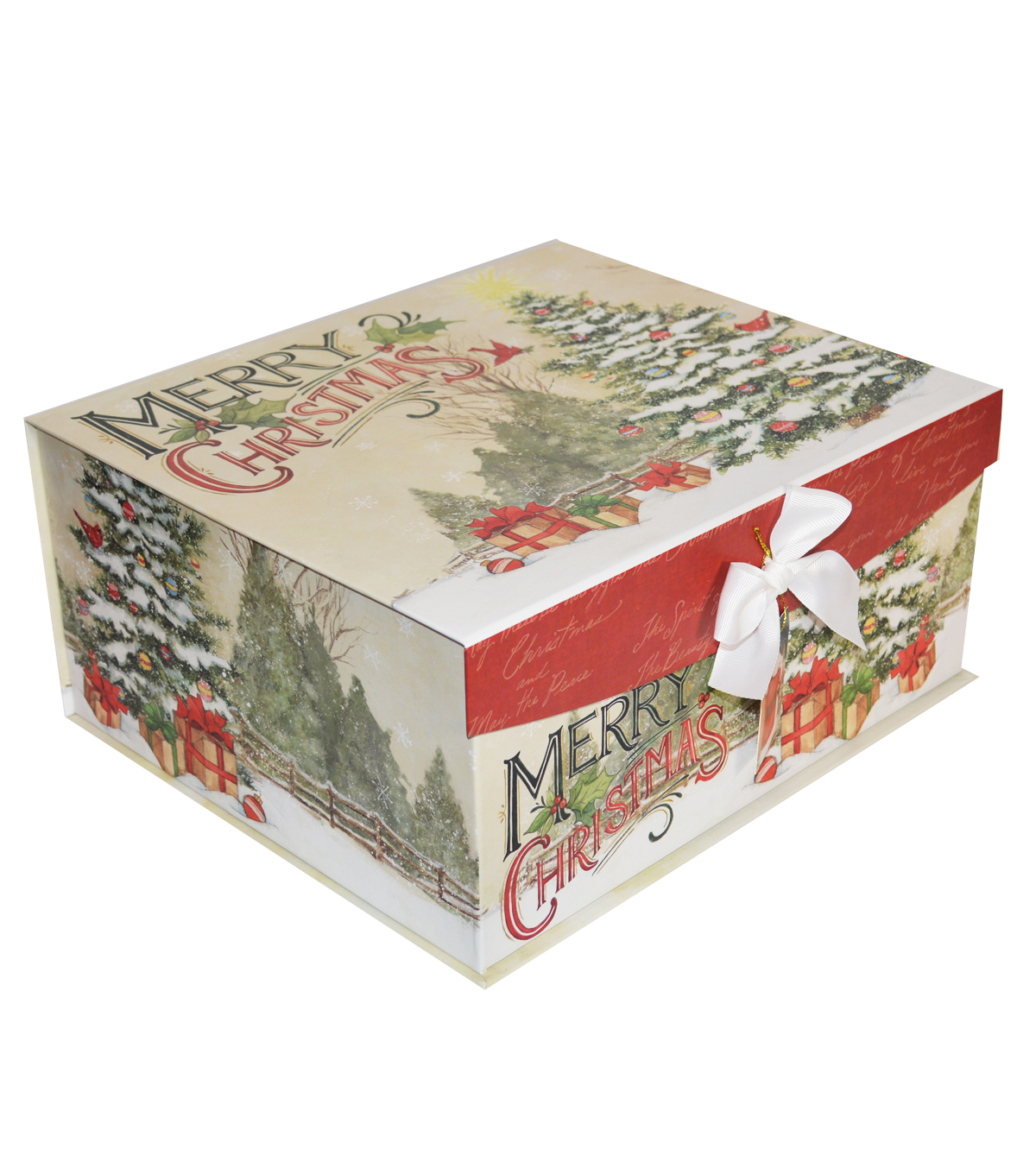 Maker\u0027s Holiday Christmas Large Fliptop Storage Box-Classic Santa