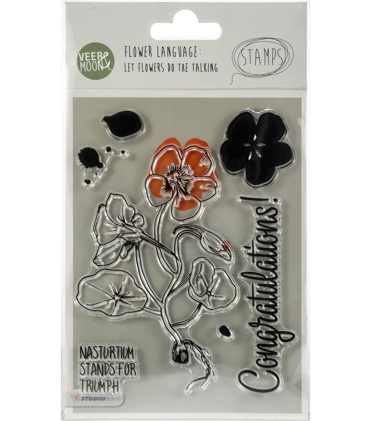Studio Light Veer & Moon 7 pk Stamps-Nasturtium Stand for Triumph