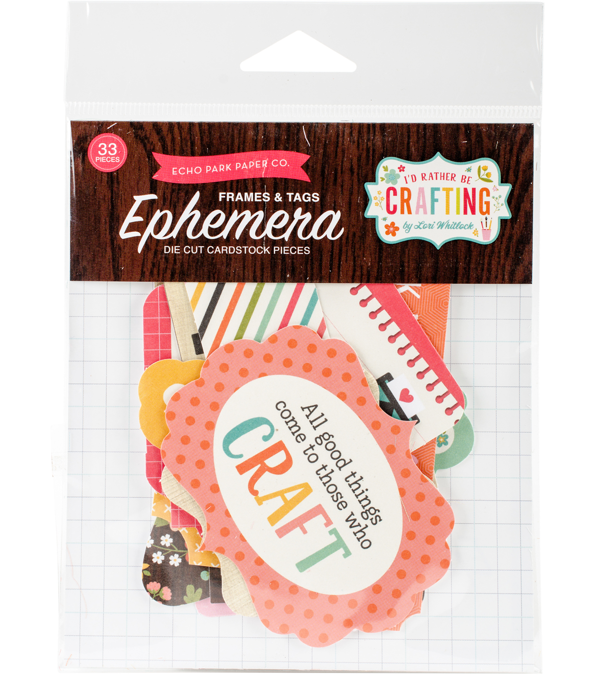 I\u0027d Rather Be Crafting Ephemera 33 pk Cardstock Die-Cuts-Frames & Tags