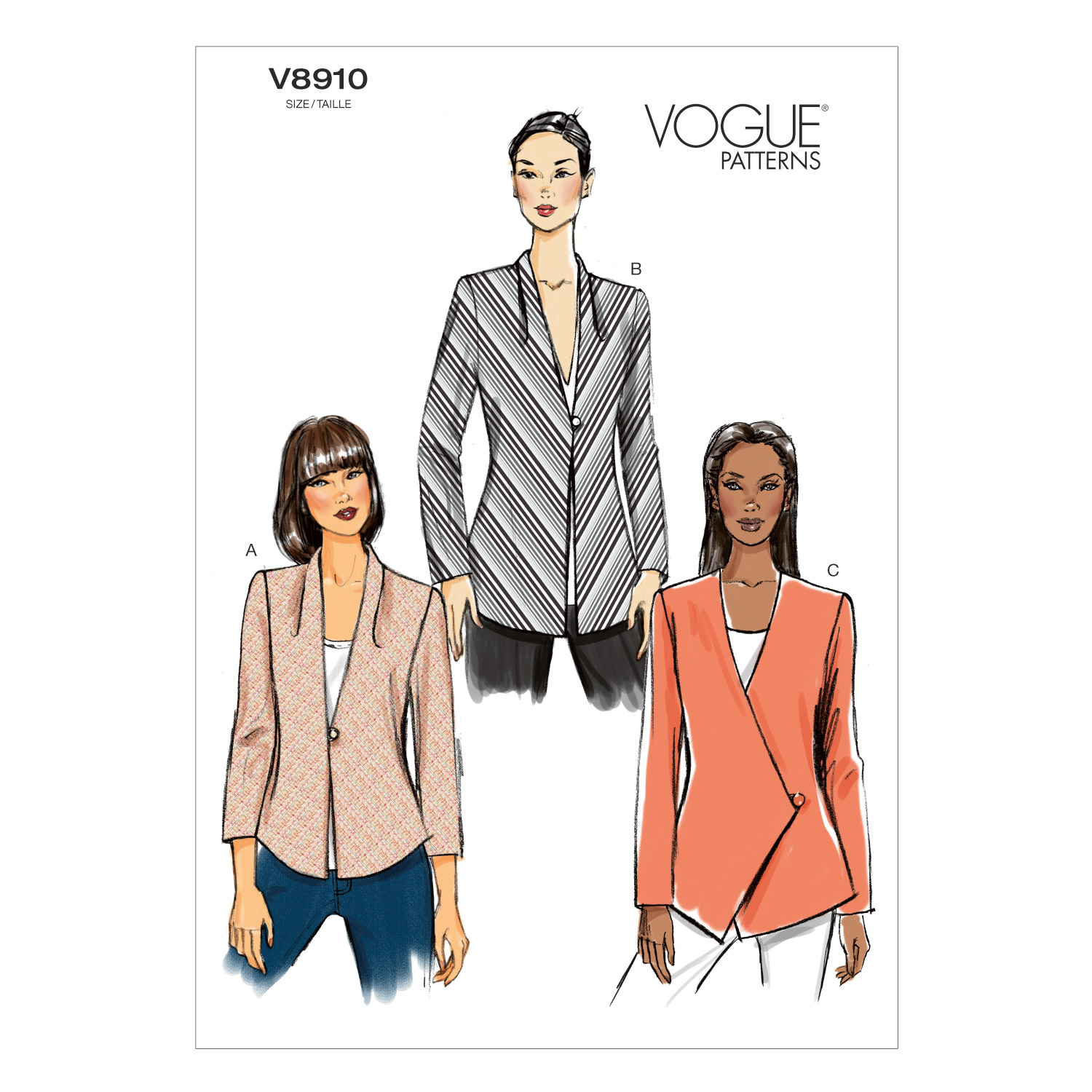 Vogue Patterns Misses Jacket-V8910