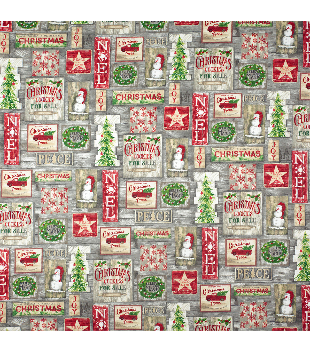 Super Snuggle Flannel Fabric-Country Christmas Patchwork