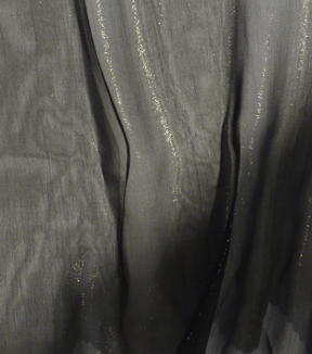 Casa Embellish Chiffon Fabric-Black and Gold Foil