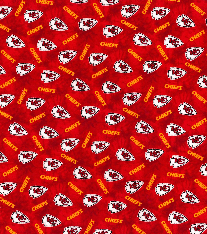 new arrival 2e2ed 9a6f5 Kansas City Chiefs Flannel Fabric-Tie Dye