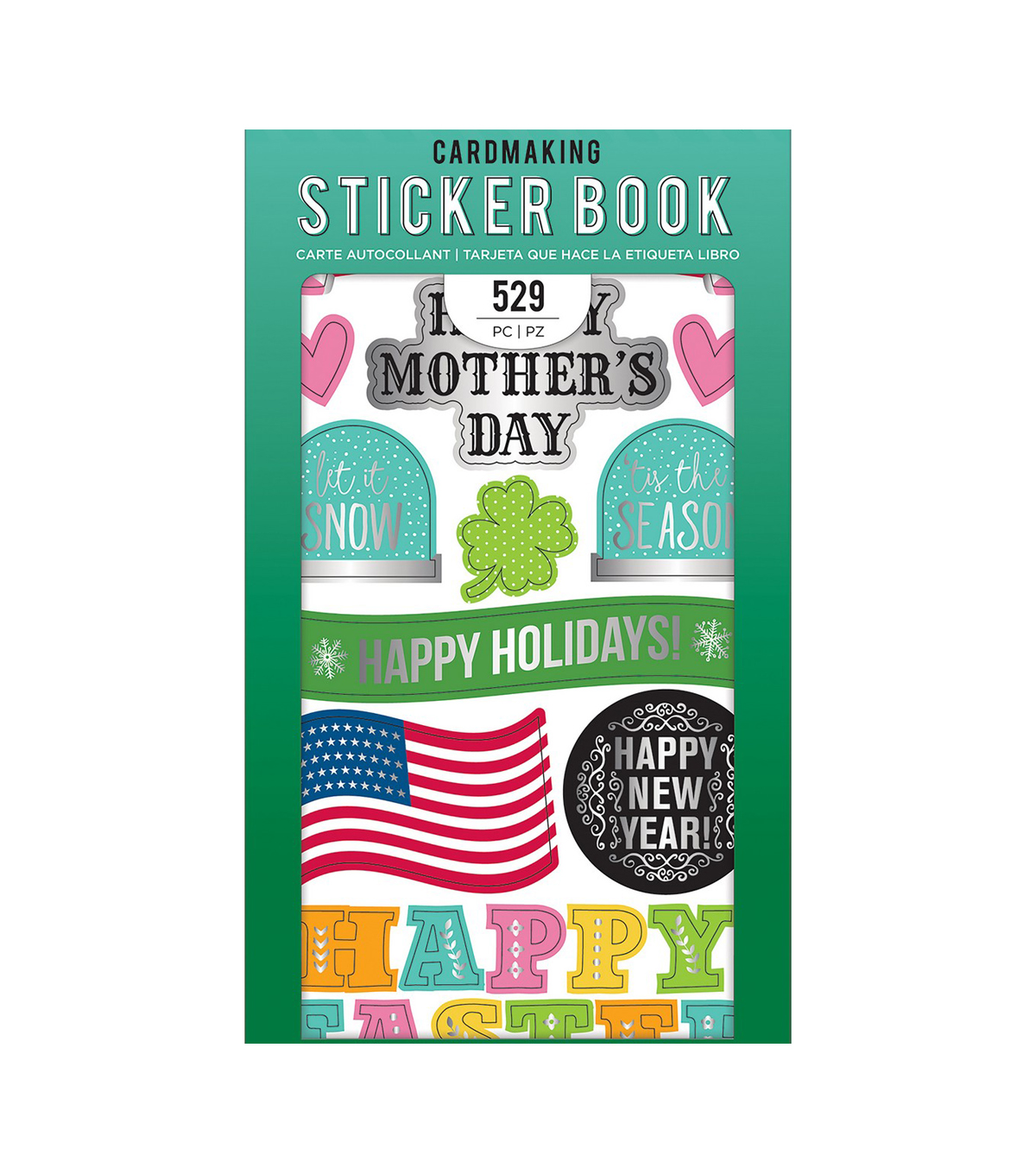 American Crafts Sticker Book 30/Pkg-All The Holidays W/Silver Foil