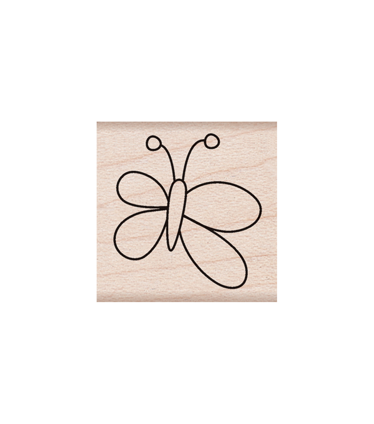 Hero Arts Wood Mounted Rubber Stamp-Little Butterfly